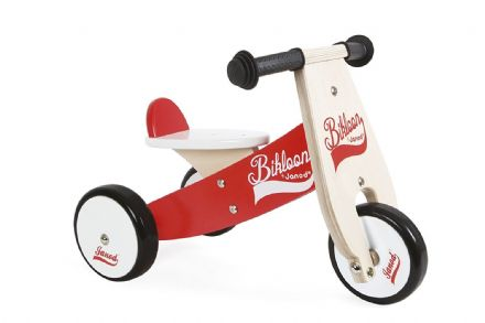 Janod Little Bikloon wooden ride-on
